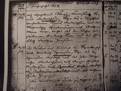 churchbook - marriage register - 1808